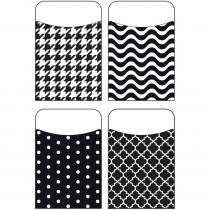 T-77901 - Black & White Terrific Pockets Variety Pack in Organizer Pockets