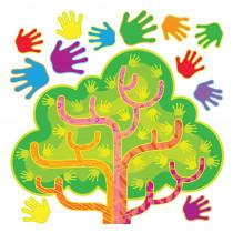 T-8212 - Hands In Harmony Lrn Tree Bulletin Board Set in Classroom Theme