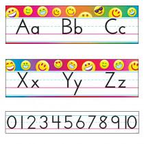 T-8288 - Emoji Alphabet Line Manuscript Bulletin Board Set Standard in Language Arts