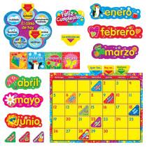 T-8321 - Wipe Off Stars N Swirls Calendar Cling Spanish  Bulletin Board Set in Bulletin Board Sets