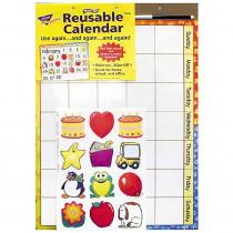 T-90005 - Wipe-Off Reusable Calendar 17X22 W/ Marker & 12 Mini Accent in Calendars