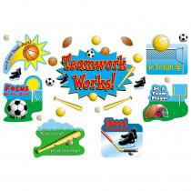 TCR1793 - Sports Teamwork Bulletin Board Set in Classroom Theme