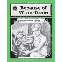 TCR3159 - Because Of Winn Dixie Literature Unit in Literature Units