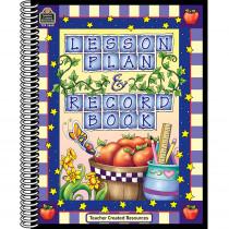 TCR3668 - Lesson Plan & Record Book Checks Purple Checks Border in Plan & Record Books