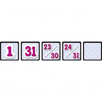 TCR4584 - Black Polka Dots Calendar Day Mini Packs in Calendars