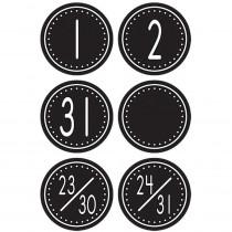 TCR4878 - Black/White Crazy Circles Calendar Days Mini Pack Circle Shape in Calendars