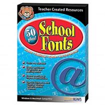TCR5095 - 50 Plus School Fonts in Clip Art