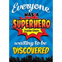 TCR7418 - Superhero Inside Poster in Inspirational