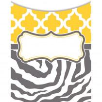 TCR77089 - Wild Moroccan Lemon & Gray Library Pockets in Organizer Pockets