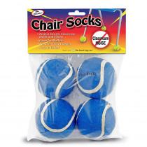 TPG232 - Chair Socks Blue 4Pk in Casters