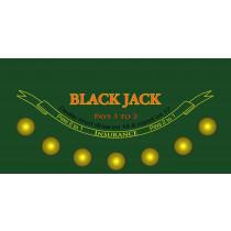 Casino Quality Blackjack Sublimation Table Felt