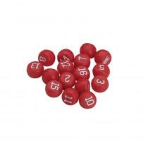 Red Plastic Billiards Tally Ball Set