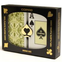 COPAG Misto Saraswati Green/Orange Plastic Playing Cards