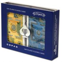 COPAG Mandala Blue/Yellow Plastic Playing Cards