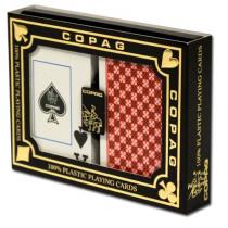COPAG Plastic Playing Cards, Master red/Black, Bridge Jumbo