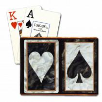 Congress Black Heart & Spade Bridge Designer Series Playing Cards