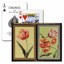 Congress Tulips Gold & Silver Bridge Designer Series Playing Cards