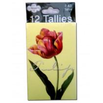 Congress Tulips Bridge Tally Cards