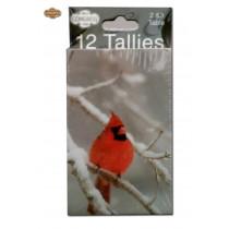 Congress Red Cardinal Bridge Tally Cards