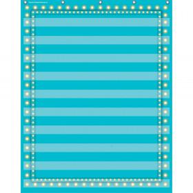 "Light Blue Marquee 10 Pocket Chart (34"" x 44"")"