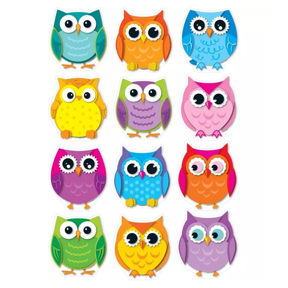 Colorful Owl Classroom Decorations : Colorful owls cut outs cd carson dellosa