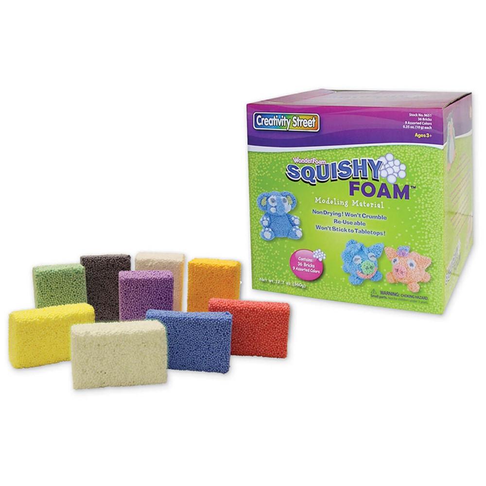 Squishy Foam : Squishy Foam - 36 Colored Pcs - CK-9651 Pacon Corporation Arts & Crafts,Foam