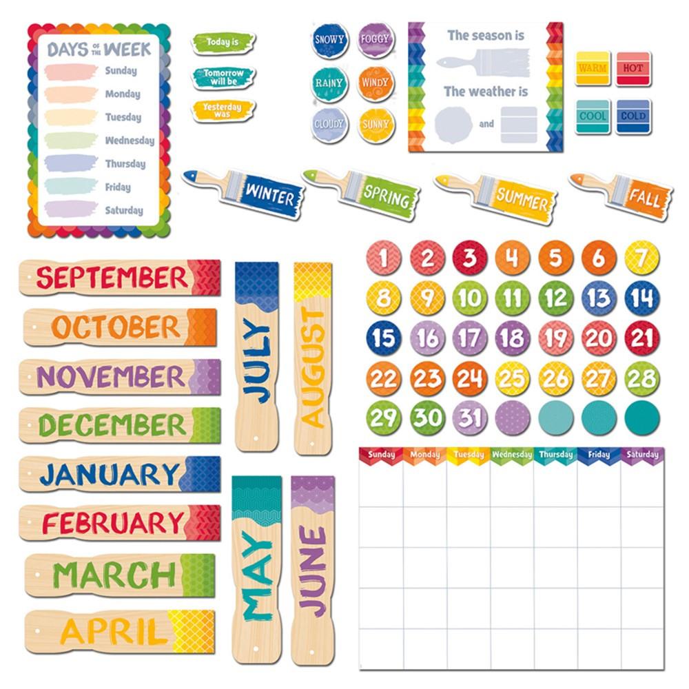 Classroom Calendar Set : Painted palette calendar set ctp creative teaching