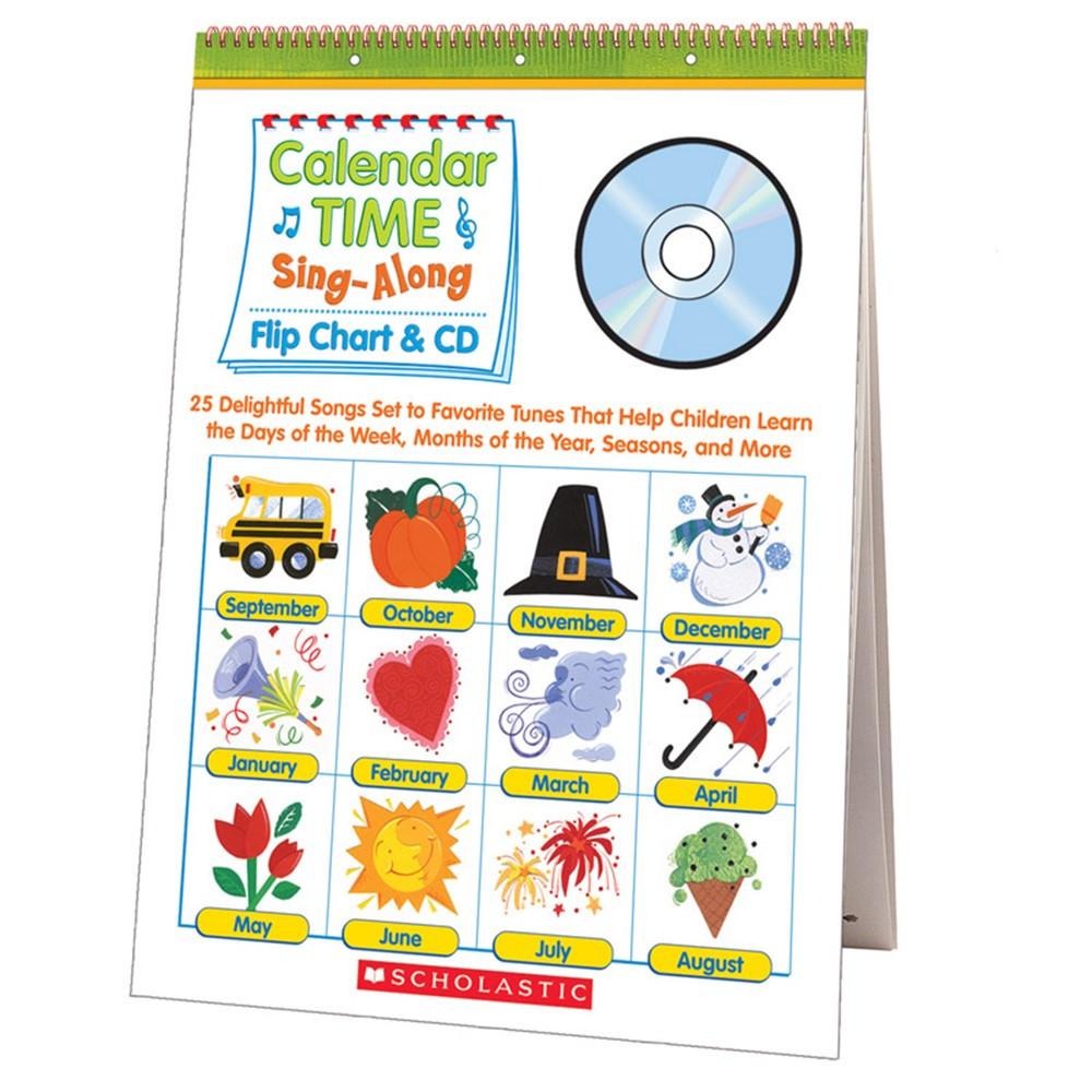 Kindergarten Calendar Flip Chart : Calendar time sing along flip chart and cd sc