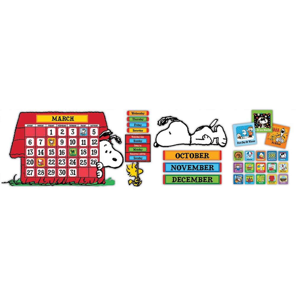 Calendar Bulletin Board Set : Peanuts calendar bb set eu eureka classroom