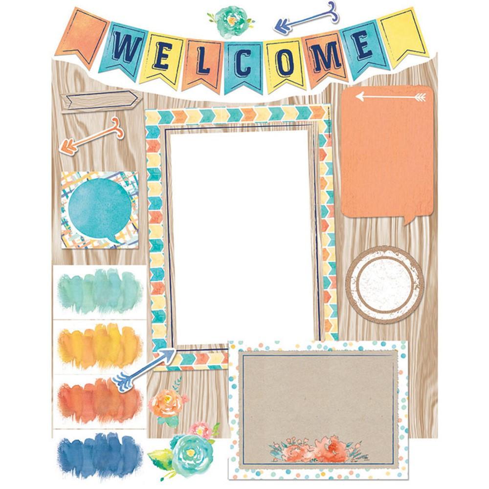 Classroom Decorations Bulletin Board Set ~ Confetti splash welcome bb set eu eureka
