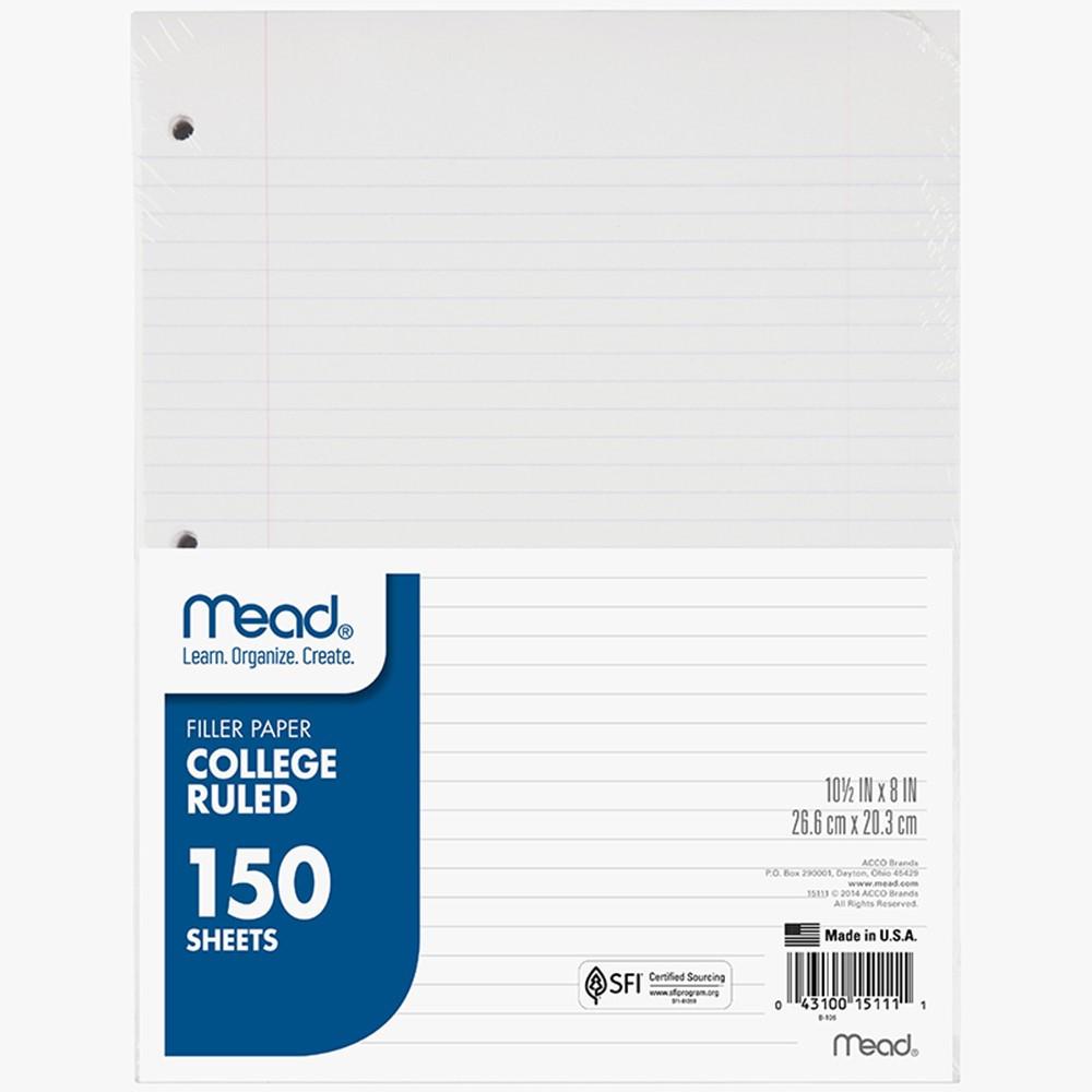 loose leaf paper college ruled