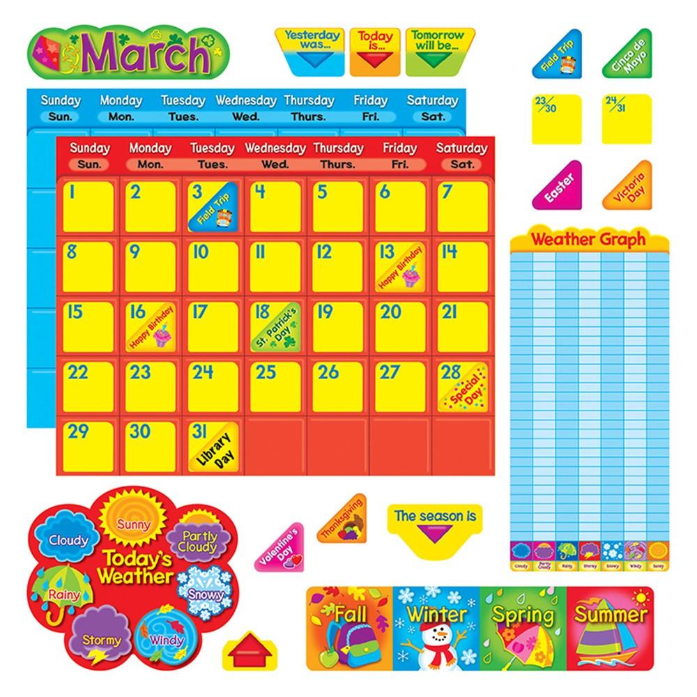 Classroom Calendar Sets : Classic calendar duo bulletin board set t trend