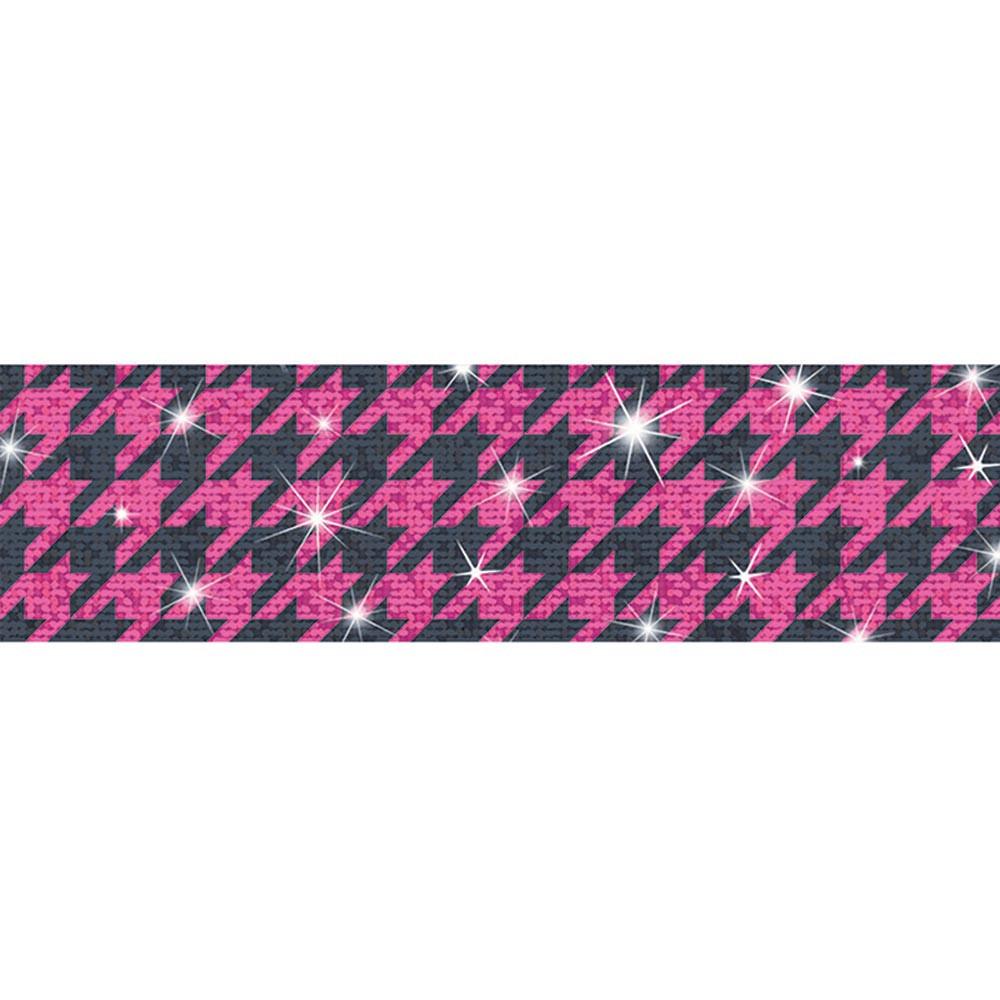 Houndstooth Pink Sparkle Plus Bolder Borders - Sparkle ...