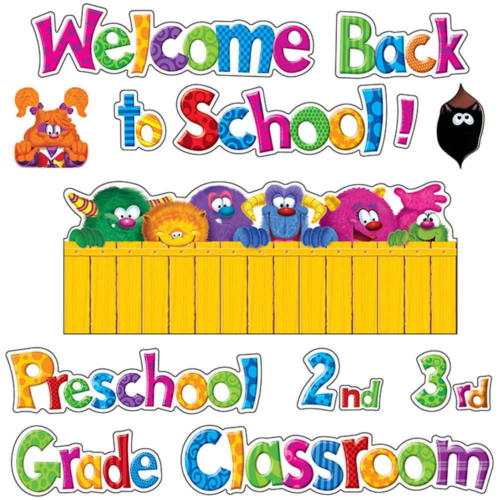 Classroom Decorations Bulletin Board Set ~ Furry friends welcome phrases mini bulletin board set t