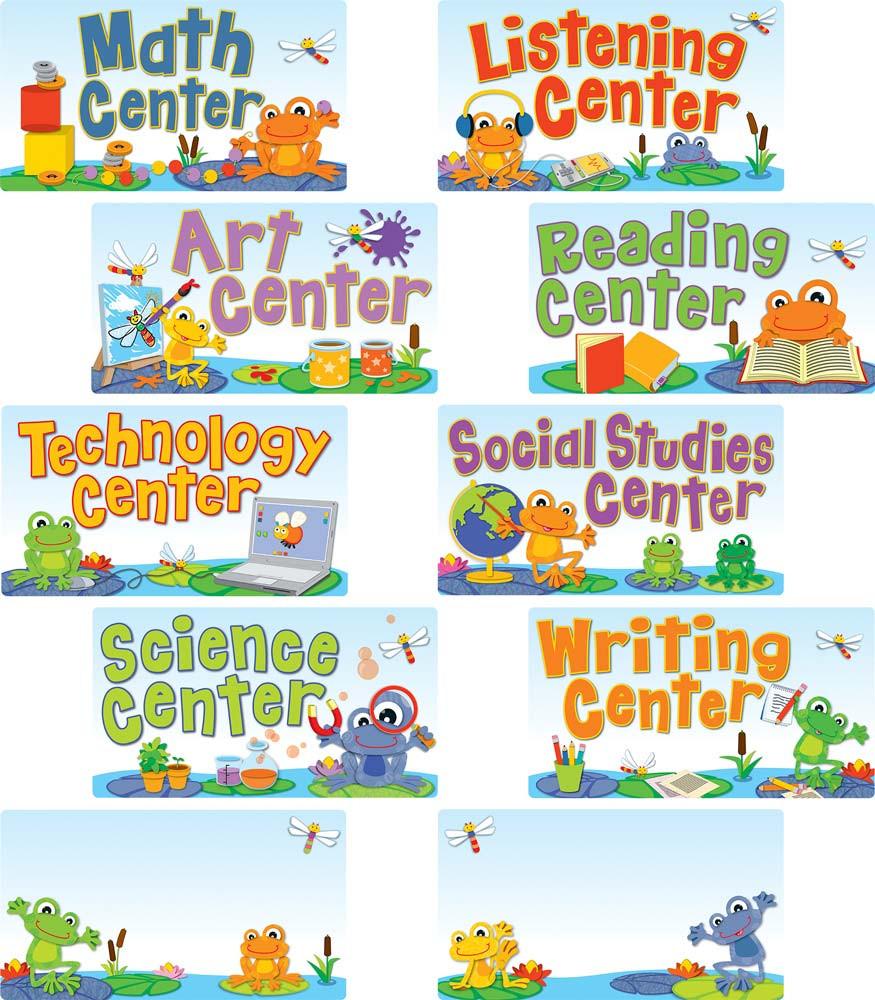 carson community center preschool funky frogs center signs cd 110268 carson dellosa 459