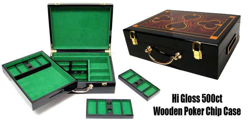 ben franklin 500pc poker chip set whi gloss case - Poker Chips Set