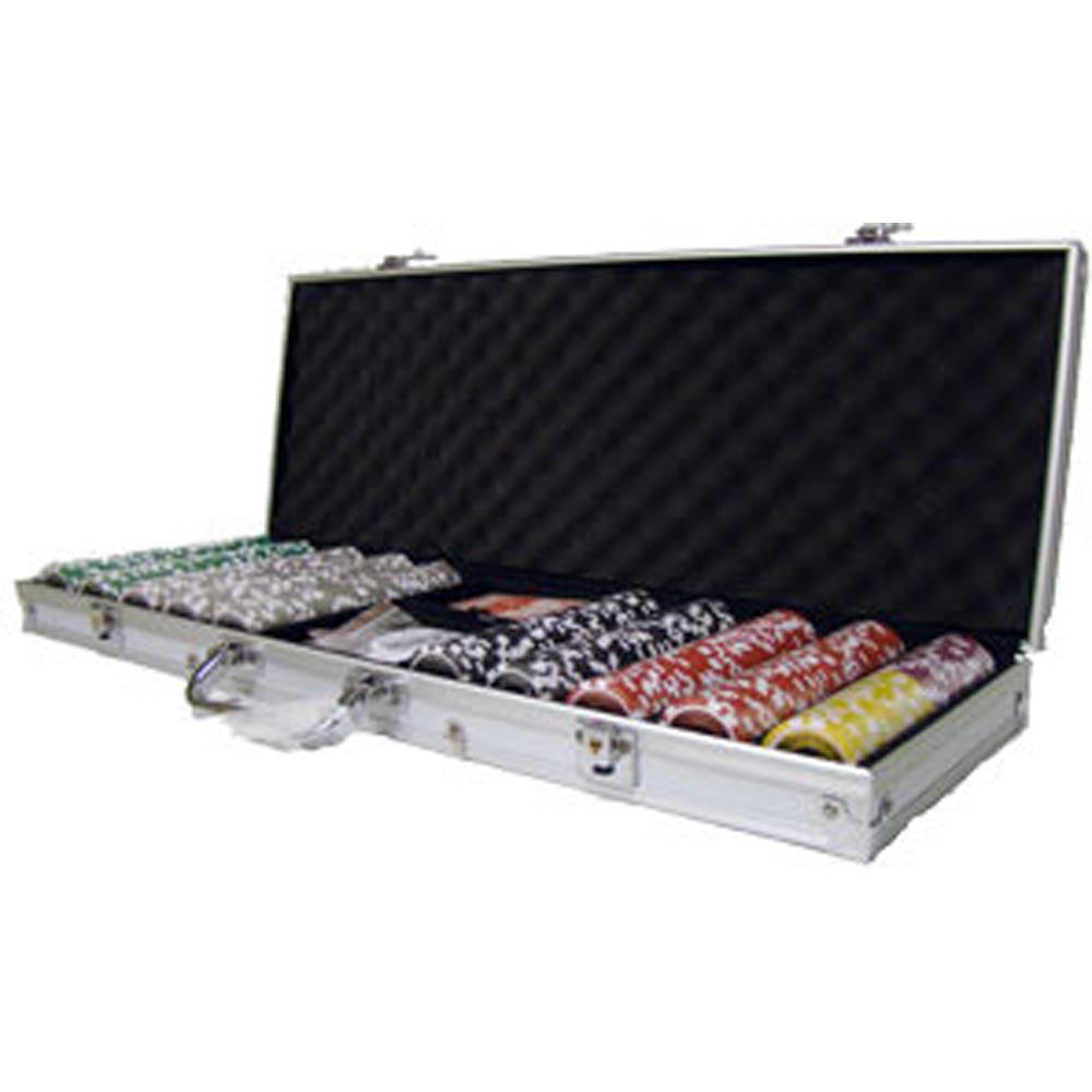 500 piece poker set aluminum case