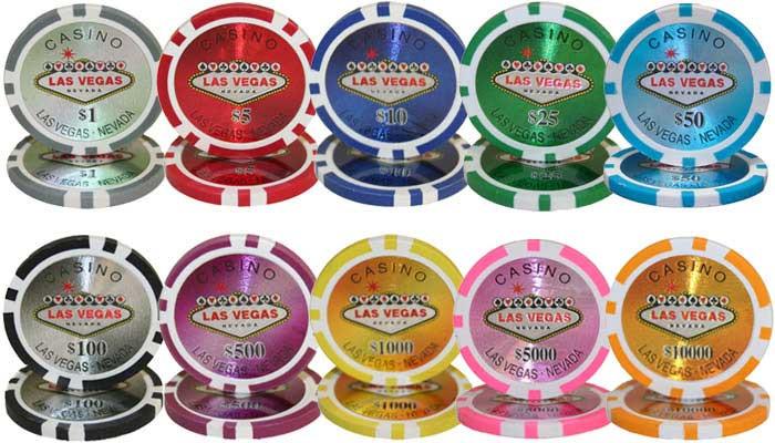 Las Vegas 14 Gram Clay Composite Poker Chips