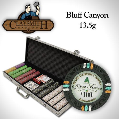 Bluff Canyon 500pc Poker Chip Set w/Aluminum Case