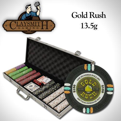 Gold Rush 500pc Poker Chip Set w/Aluminum Case