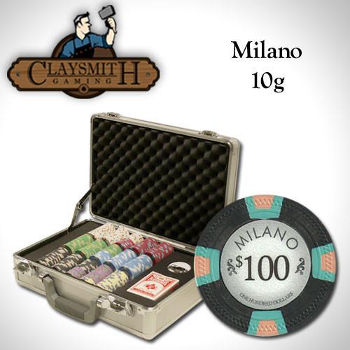 Claysmith Milano 300pc Poker Chip Set w/Claysmith Aluminum Case