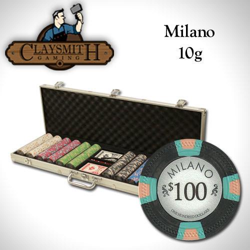 Claysmith Milano 600pc Poker Chip Set w/Aluminum Case