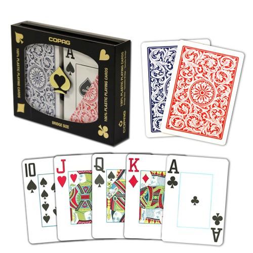 COPAG Plastic Playing Cards, Red/Blue, Bridge Size, Jumbo Index