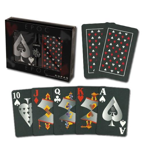 COPAG EPOC Plastic Playing Cards, Bridge Size, Jumbo Index