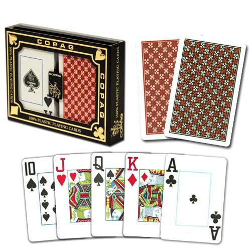 COPAG Master Plastic Playing Cards, Red/Black, Bridge Size, Jumbo Index