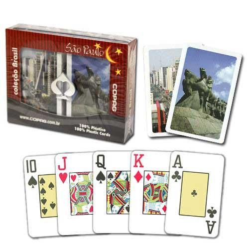 COPAG Sao Paulo Plastic Playing Cards, Bridge SIze, Jumb Index