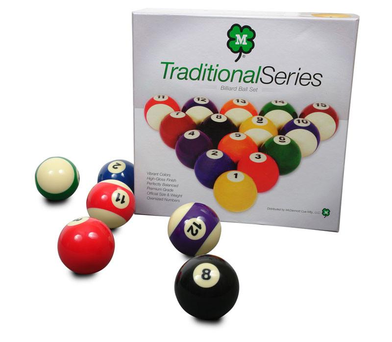McDermott Traditional Series Billiard Ball Set