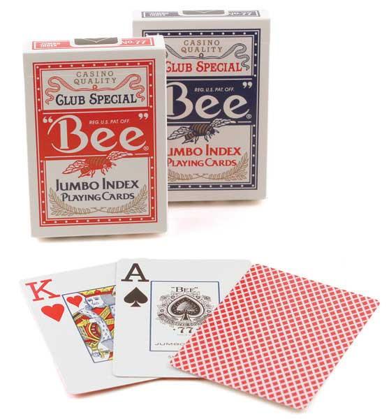Bee Jumbo Index Playing Cards