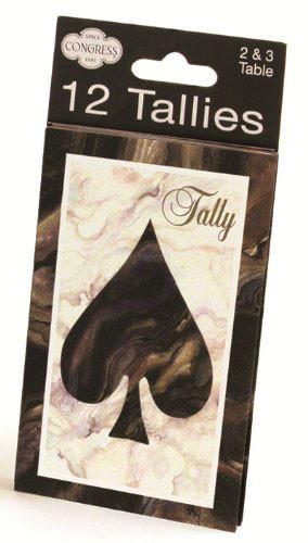 Congress Black Marble Heart & Spade Tally Cards