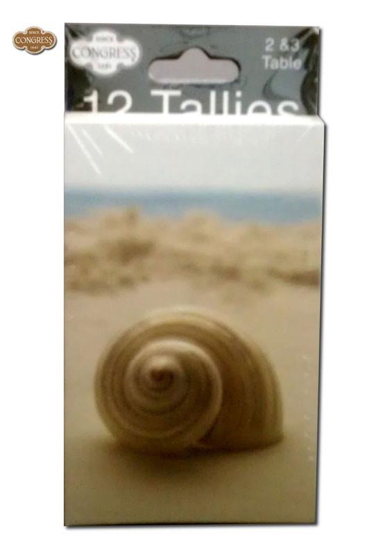 Congress Seashells Bridge Tally Cards